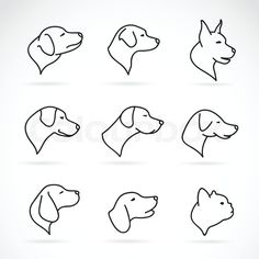 dog outline tattoo - Google Search
