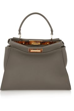 316265220cf7 Shop for Peekaboo medium textured-leather tote by Fendi at ShopStyle.