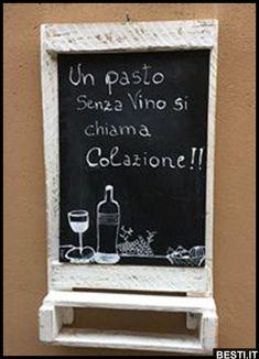 Un pasto senza vino