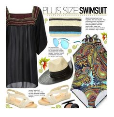 """""""Plus Size Swimsuit"""" by beebeely-look ❤ liked on Polyvore featuring Clean Water, Sonia Rykiel, Rebecca Minkoff, MAC Cosmetics, swimwear, beachstyle, plussize, plussizefashion and twinkledeals"""