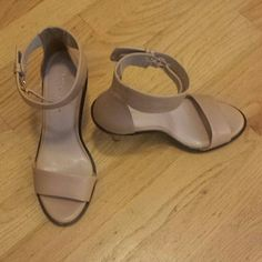 Kurt Geiger Heels Nice, beautiful jade nude color KG heels with an ankle strap and 10cm heel. Has little tiny scratches on right heel KG Kurt Geiger Shoes Heels