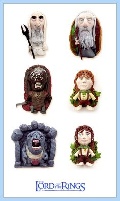 Lord of the rings Charms SET - CLAY Sculptures by buzhandmade.deviantart.com on @deviantART