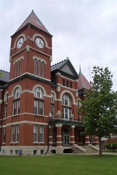 Miami County courthouse, designed by George P Washburn, Paola, KS