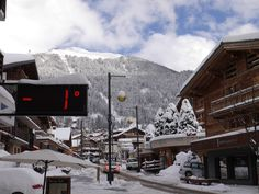 Verbier high street towards the ski lifts
