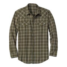 Eddie Bauer Men's Classic Fit Elkhorn Plaid Shirt:Amazon:Clothing