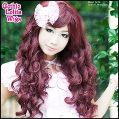 Gothic Lolita Wigs® Classic Wavy Lolita™ Collection - Burgundy Mix – Dolluxe®