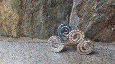 brinco de fio em prata martelado