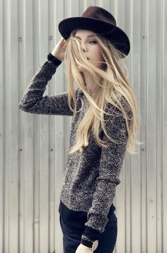 Faux Bow Herringbone Sweater - Nicole Miller