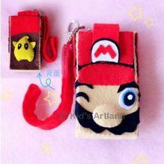 DIY felt series Super Mario Bros mobile phone case GA152 G Fabrics felt material packages