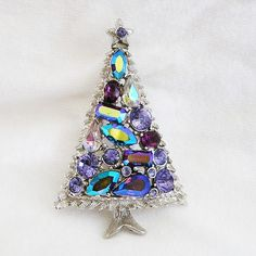 Hollycraft Amethyst and Purple Christmas Tree
