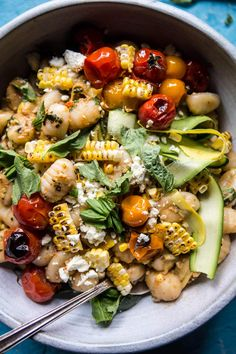 Simple Summer Tomato Pesto + Grilled Corn Gnocchi. - Half Baked Harvest