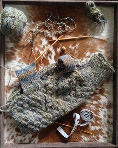 Hand-knit puppy sweater in progress!
