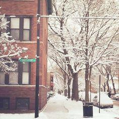 beautiful snowy Chicago