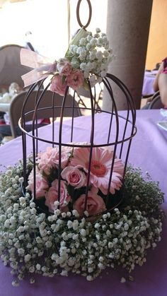 Cute wedding centerpiece
