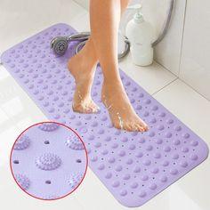 b2207a0ff3f3 Large Strong Suction PVC Bathroom Shower Mat Anti Non Slip Bath Foot  Massage Pad 74x38cm 2017ing