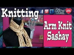 Mikey from RedHeart.com will show you the tricks to be able to arm knit using Red Heart Boutique Sashay.