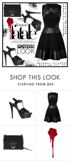 """""""Your Signature Power Look"""" by jelena-880 ❤ liked on Polyvore featuring Yves Saint Laurent, David Koma, Jimmy Choo, PAM and powerlook"""