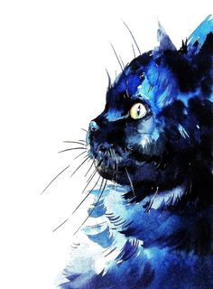 Chat Art Print aquarelle Cat Print decoration par ARTTARATET