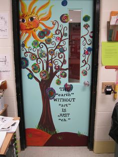 creative art classroom doors - Google Search