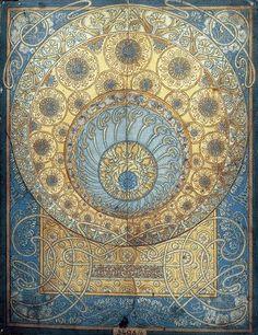 tapis dessiné par Alfons Mucha
