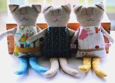 Snuggly softie kitten sweet doudou kitten plush. Baby by arch190, €28.00