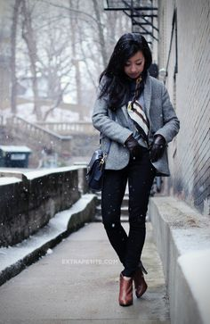 Snow Day: Zara Kids Tweed Swing Coat   Equestrian Scarf