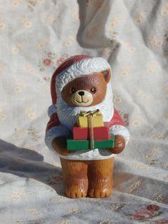 Lucy Rigg Christmas Bear Pepper Shaker 1982 Bear Holding