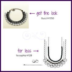 Infinitme necklaces that you can layer and customize are available at dramatically reduced prices.  Your lia sophia outlet infinitme necklace purchase includes a clasp and extender FREE!