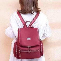 Korean Bags, Leather Backpack, Fashion Backpack, Backpacks, Facebook