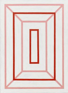 Andrew Spence, 2012, Red Pink White 4, Oil on canvas, 22h x 16w in.