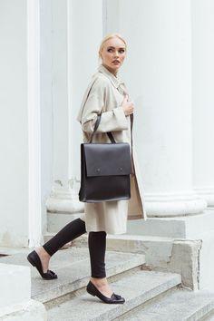 Leather backpack-handbag Universal leather bag por KeepAnEyeLeather