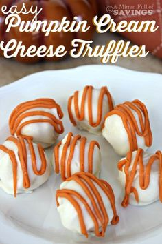 Take your PUMPKIN craving to the next level!! If you love Pumpkin, then you will love and appreciate Pumpkin Cream Cheese Truffles. Super easy and budget friendly dessert! Perfect for a Fall treat or Thanksgiving!  easy recipe, fall recipes, thanksgiving dessert ideas, easy dessert ideas