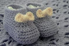 Imagining little feet moving in these cute booties...awww