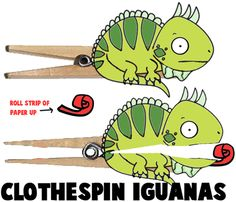 How to Make Clothespin Iguanas