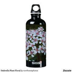 Umbrella Plant Floral Aluminum Water Bottle