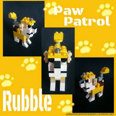 Meet Rubble from Paw Patrol my latest LEGO Creation