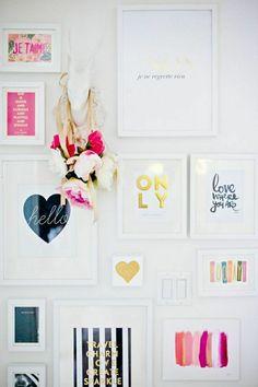 idee deco chambre avec des peintures décoratives, décoration murale