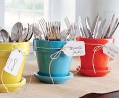 Great silverware presentation for parties