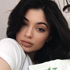 """Kylie Jenner launches a new black metal matte color to her Lip Kit collection, which has blue undertones, and is called """"Majesty."""" It does not yet have an official release date, but the makeup mogul says to stay tuned to Snapchat."""