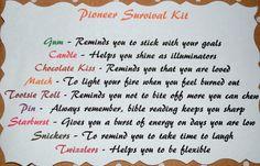 Wonderful gift we received -- Pioneer Survival Kit!