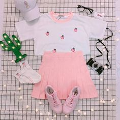 Check out this Awesome korean fashion outfits Pastel Outfit, Pink Outfits, Cute Casual Outfits, Pretty Outfits, Harajuku Fashion, Kawaii Fashion, Cute Fashion, Fashion Outfits, Pastel Fashion