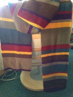 Doctor Who inspired Tom Baker Scarf 9 feet long by Yarnicopia