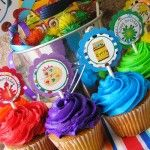 Art Birthday Party Cupcake Toppers