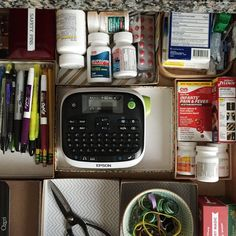 """This, my friends, was the sorry state of my kitchen junk drawer last week — a mess of miscellanea, and as far away from """"neat and tidy"""" as it's possible to get. In fact, it's like it saw the words """"neat and tidy"""" and just ran in the other direction — fast. As in, sprinted. It was sad. When I finally got around to clearing the drawer out, I took the advice in this life-changing tidying book I told you about and decided not to buy anything special for it: no organize..."""