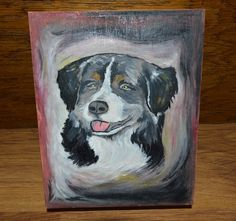 Unique Custom Wood Casket Memorial Urn for Dog's ashesHand painted made to order…
