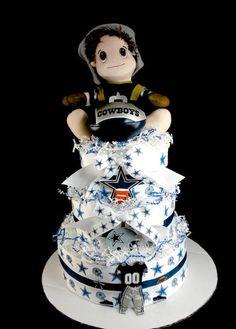3 tier DC diaper cake :)