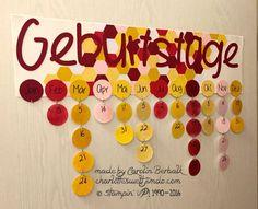 Geburtstagskalender - Sechseck-Stanze