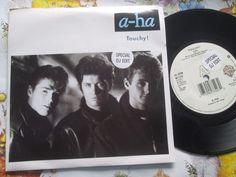 a-ha – Touchy! Warner Bros. Records W7749 Promo Sticker UK 7inch Vinyl Single