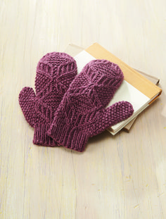 Scarlet Oak Mittens By Rae Blackledge - Purchased Knitted Pattern - (ravelry)