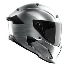 The ATLAS Mercury. Brushed gunship chrome paint applied by hand onto a aerospace grade Carbon shell. Ships with a clear road-legal visor and a dark tinted track-day visor, for sunny conditions only. Motorcycle Helmet Accessories, Full Face Motorcycle Helmets, Custom Motorcycle Helmets, Cruiser Motorcycle, Women Motorcycle, Racing Helmets, Victory Motorcycles, Honda Motorcycles, Vintage Motorcycles